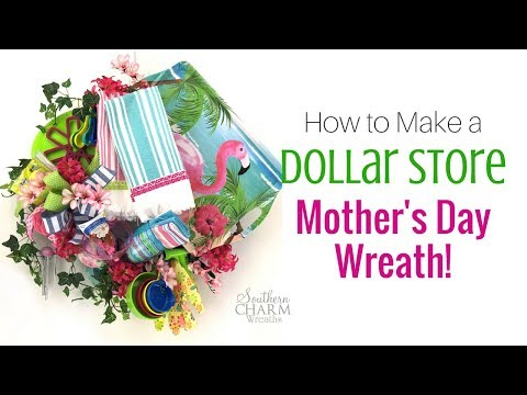 Mother's Day Wreaths | Last Minute DIY How to Make a Mother's Day Wreath