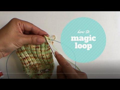 How to knit socks using magic loop