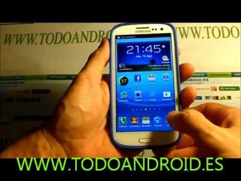 Capturar la pantalla con la mano en el Samsung Galaxy S3