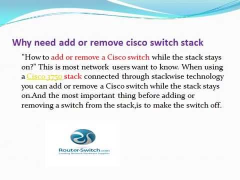 Adding or removing a Cisco 3750 stack