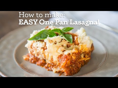EASY One Pan Lasagna Recipe! (Gluten-free)