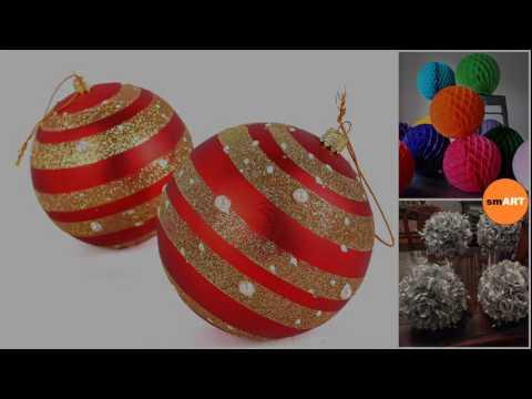 Glass Ball Ornaments - Large Christmas Balls