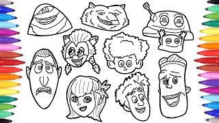 Hotel Transylvania Summer Vacation Coloring Pages How To Draw