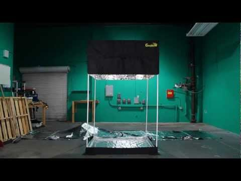 Setup Grow Room Time Lapse! How to Build Gorilla style