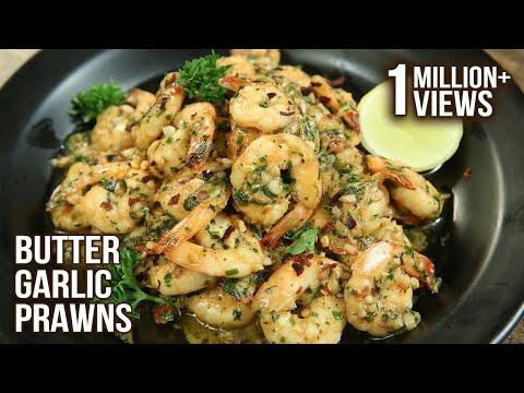 Easiest Butter Garlic Prawns Recipe | Fish Recipe | How To Make Garlic Butter Prawns | Varun Inamdar