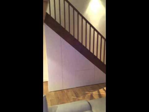 Under stairs storage build for Rima & Mark (GU35). www.alexanderscarpentry.com