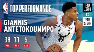 Download Giannis Puts On Historic All-Star Performance In Charlotte | 2019 NBA All-Star Video