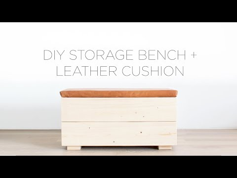 DIY Storage Bench with Leather Cushion