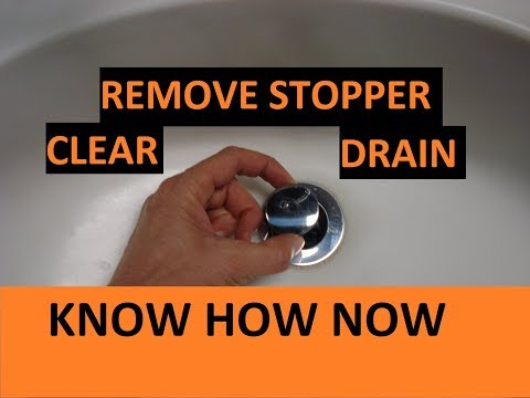 Remove Bathroom Pop Up Stopper Unclog Sink