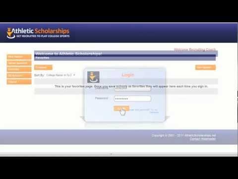 How to get started on AthleticScholarships.Net Free Coaches Database