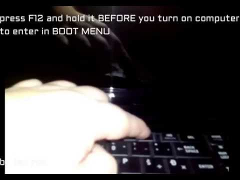 how to enter in boot menu on toshiba satellite 750