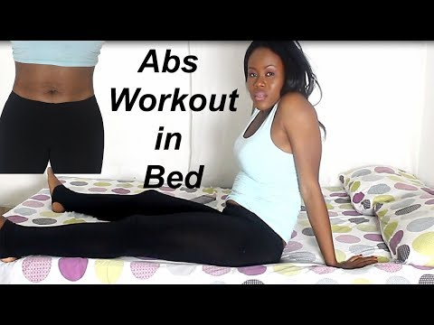 3 MIN lazy ab workouts IN BED( flat tummy exercises  in bed)