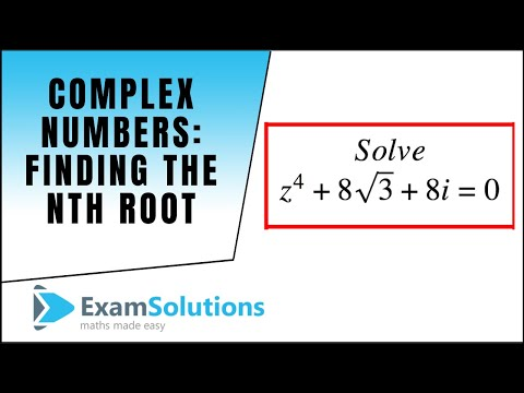 Complex Numbers (How to find the nth root) : ExamSolutions Maths Video Tutorials