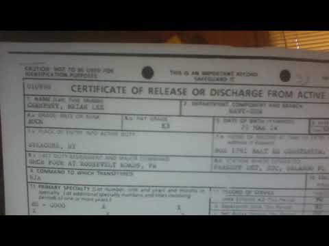 proof of my service, discharge papers