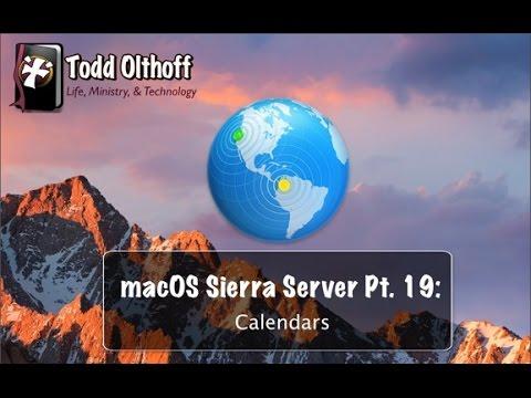 macOS Sierra Server Part 19: Calendars