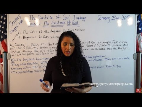 EMOAF S.O.M Back To Basics | Theology Exegesis Two Course 3: The Existence of God