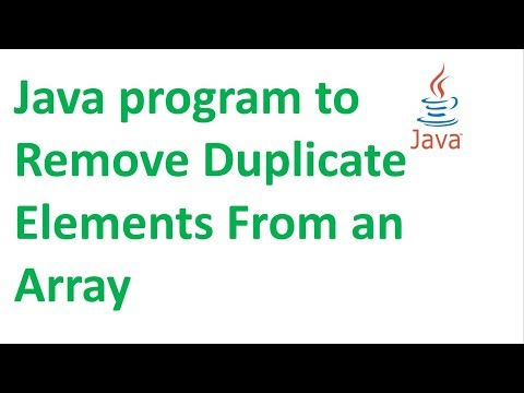 Java program to Remove Duplicate Elements From an Array