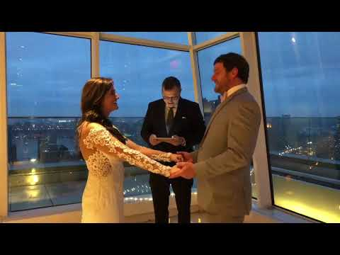 Rooftop Wedding officiated by Rev. Brad and organized by Wedding Packages NYC