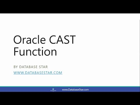 Oracle CAST Function