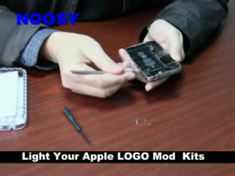 NOOSY teach you how to light your iPhone 4/iPhone 4s Apple Logo--Luminescent Logo Mod kit
