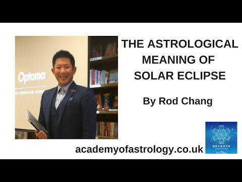 Astrological meaning of Solar Eclipse by Rod Chang