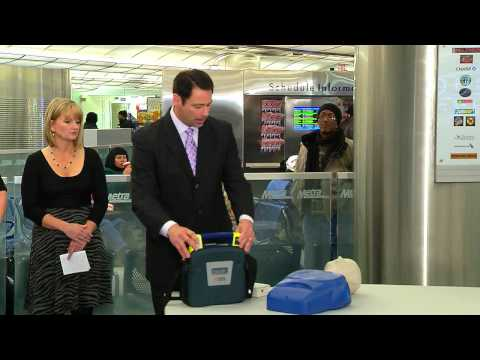 Governor Quinn Highlights Installation of AEDs on Metra Rail Cars