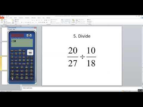 Technology in College Algebra - Fractions - HP SmartCalc 300s