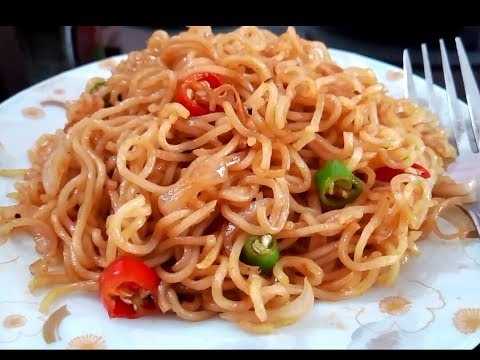 Maggi Chowmein Recipe/How to make maggi chowmein recipe in bangla /Maggi Recipe