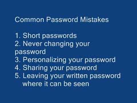 Creating a Secure Password