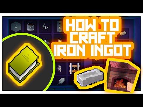 AdventureCraft #GameTutorials - How to Craft Items? (Iron Ingot)