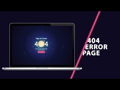 404 Error Page | CSS Tutorial