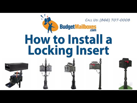Budget Mailboxes | How to Install a Locking Insert