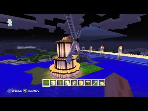 Minecraft xbox one clock tower and windmill builds
