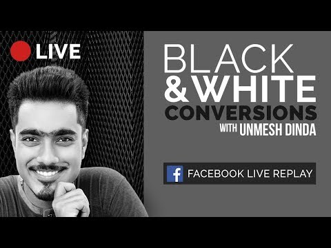4 Ways to Make Amazing Black and White Conversions in Photoshop | 🔴 LIVE Replay