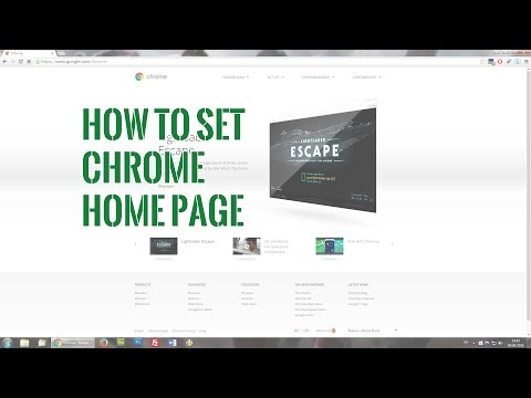 How to set Chrome home page – updated video