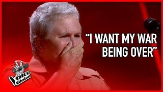 WAR VETERAN made The Voice coaches CRY | The Voice Global