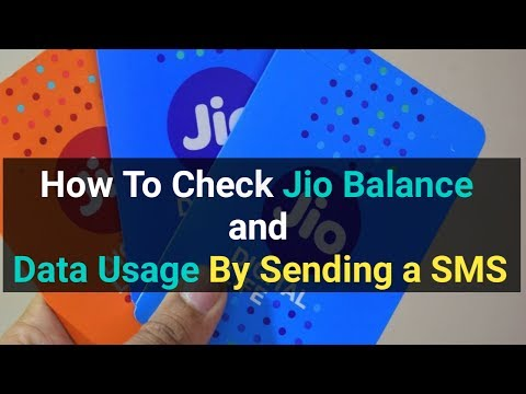 How to check Jio Balance,Data Usage,Find Your Jio Number by sending a sms