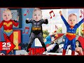 JUMP SONG With Lyrics Kids Songs And FUN With Superhero Babies Sing Along With Baby Superheroes