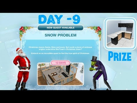 Simsfreeplay - Snow Problem Quest Day - 9 Christmas Holiday Update 2017