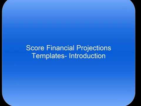 SCORE Financial Projections Template Introduction