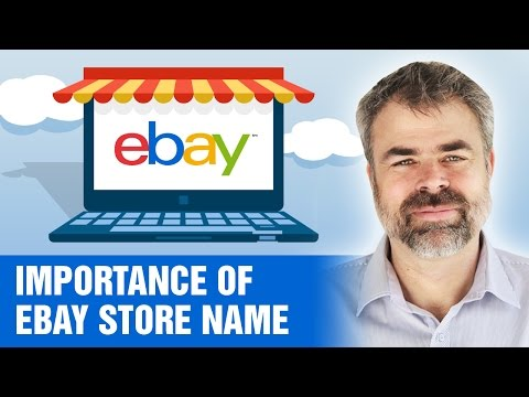 How Important is an eBay store name for selling on eBay?