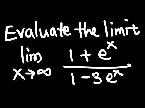 Calc I: Limit at infinity (exponential function) example