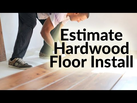 Hardwood Floor Installation Cost Estimation in Excel