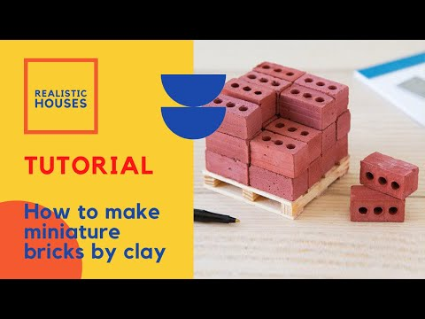 How to make miniature bricks by clay