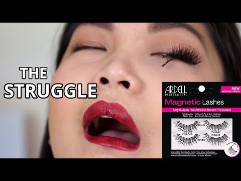 TRY ON ARDELL MAGNETIC LASHES | FULL DAY WEAR TEST | DOUBLE WISPIES