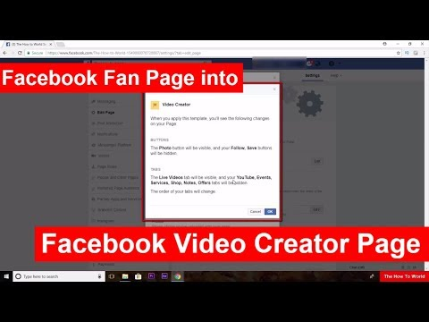 How to Change Normal Facebook Fan Page into a Facebook Video Creator Page