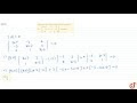 JEE MAINS 2018 Determine the values of `x` for which the matrix `A=[x+1-3 4-5x+2 2 4 1x-6]` is s...