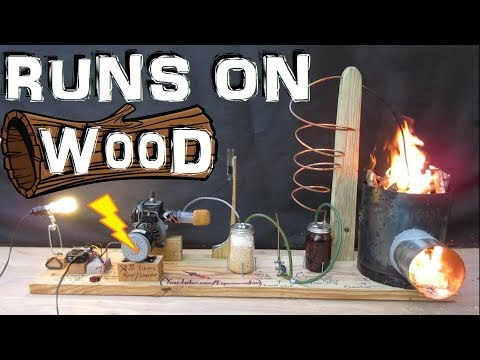 How to Make a Generator that Runs on Wood!!! (wood gas gasifier) Experiment