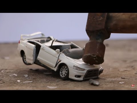 Destroying Mitsubishi Lancer Evo X with Hammer - Shredding into Pieces