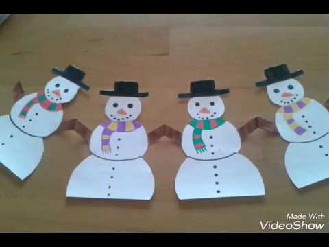 DIY|Snowman garland and snowflake|Easy
